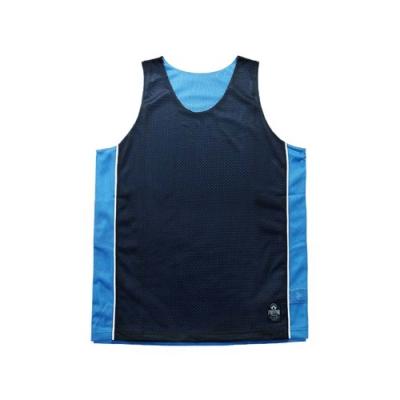 FIRESTAR 男運動籃球背心-雙面穿 B3707-93 丈青水藍