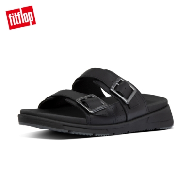 FitFlop ARLO SLIDES 經典扣環可調式涼鞋-男(黑色)