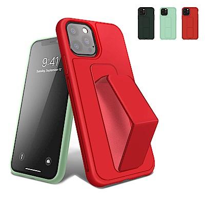 iPhone 12 Pro 強力磁吸 純色 立架 支架 手機殼 保護套-紅色*1