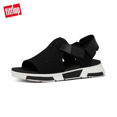 【FitFlop】ALYSSA SANDALS 易穿脫舒適運動風休閒鞋-女(黑色)