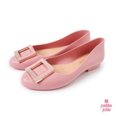 Petite Jolie-經典方扣果凍娃娃鞋-粉紅