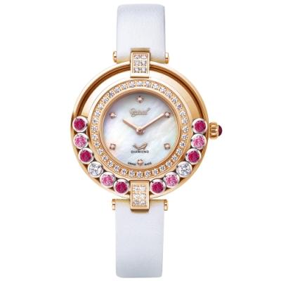 Ogival愛其華 流星系列-流光瀲灩珠寶錶-白 380-45DLR