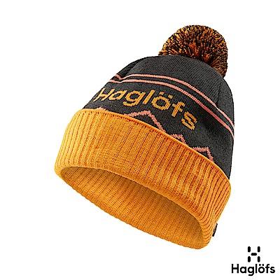 Haglofs Stipe羊毛保暖毛球帽 石板灰/雲莓橘
