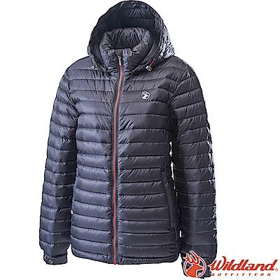 Wildland 荒野 0A62105-55亮黑色 女700FP輕量羽絨外套