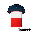Timberland 男款深藍撞色修身短袖POLO衫|A1XG8