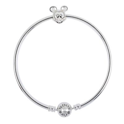 Pandora 潘朵拉 迪士尼米奇925純銀硬環手鍊手環 限定款
