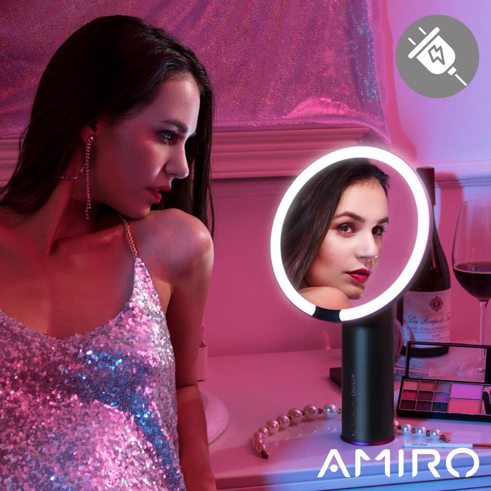 AMIRO O 系列高清日光化妝鏡(小黑鏡/有線版) - 深空灰 @ Y!購物