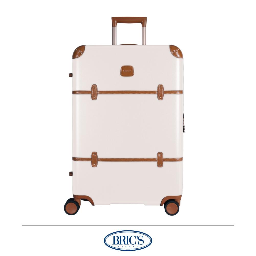 BRICS 義大利經典款 27吋 防潑水拉鍊箱 米白色 飛機輪