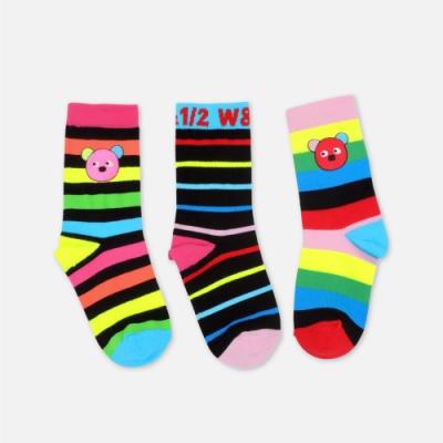 WHY AND 1/2 三件組條紋短襪