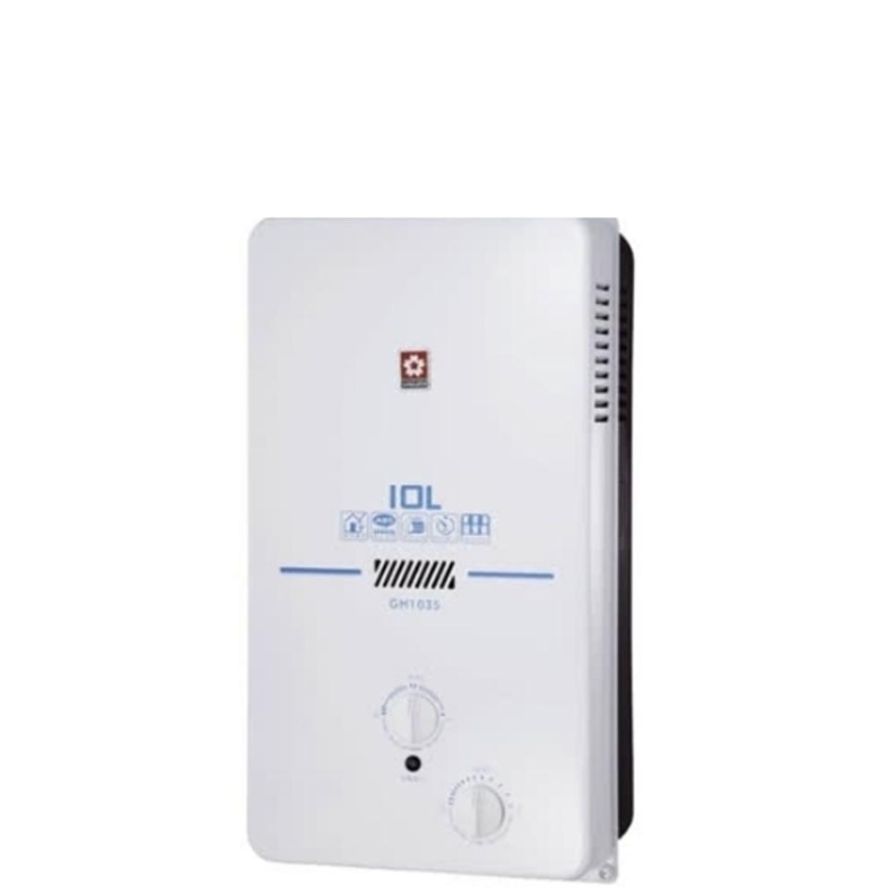 (全省安裝)櫻花10公升ABS防空燒熱水器桶裝瓦斯GH-1035L