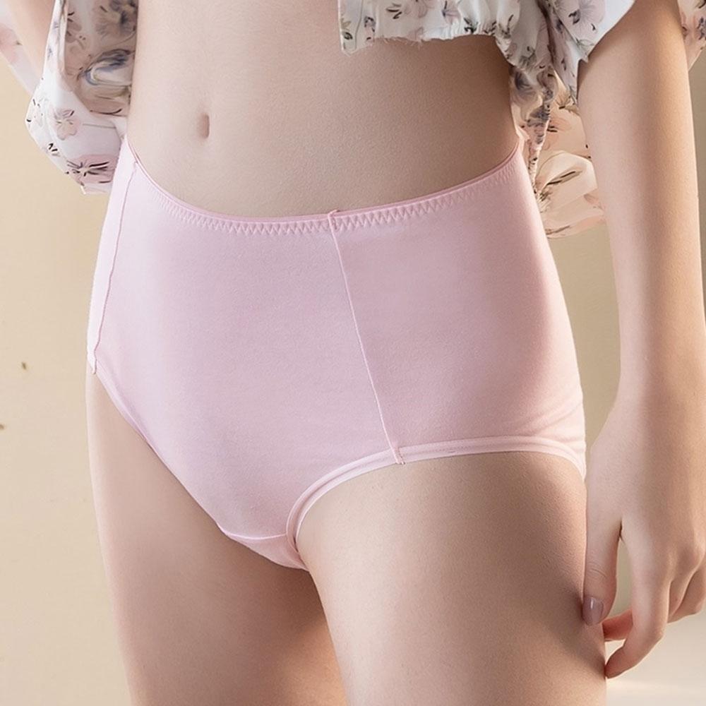 華歌爾 茶葉碳纖維 M-3L中高腰三角褲(玫瑰粉) 吸濕排汗 快乾消臭 環保抑菌