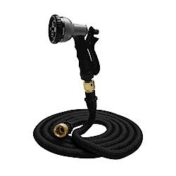 Effect 新一代高壓8段彈力伸縮清潔水管(15公尺) 贈氣密式接頭