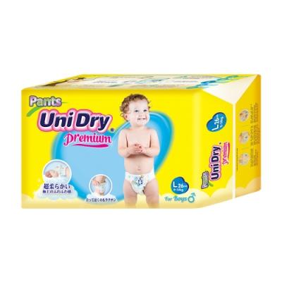 Unidry優力褲 嬰兒褲型紙尿褲特級版男生版L(26片x8包/箱)(嬰兒紙尿褲 褲型紙尿褲)