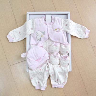 GMP BABY 大象棉絨兩用兔裝+帽 粉色彌月禮盒