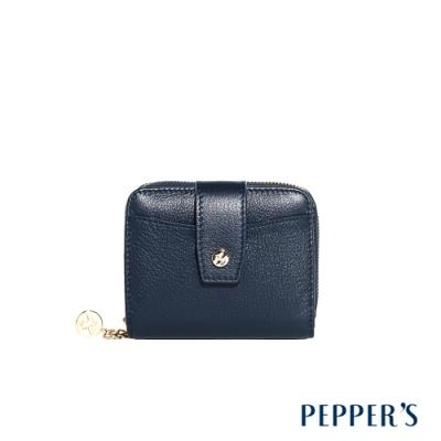 PEPPER S Doris 牛皮短夾 - 午夜藍