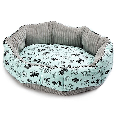 petique 百嬌客 寵物圓床 (藍貓)