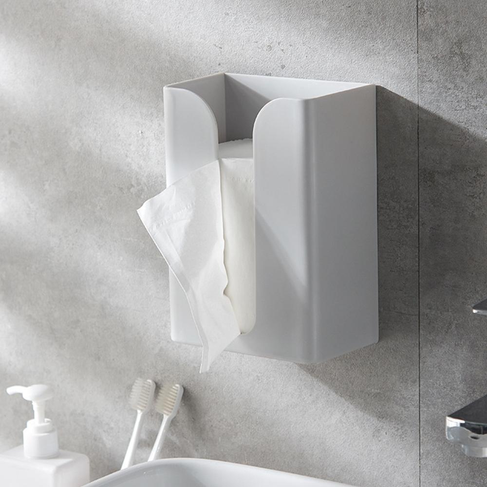 【Cap】魔術無痕壁掛式衛生紙盒收納(紙巾架)