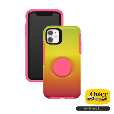OtterBox Otter+Pop iPhone 11(6.1吋)專用 防摔吸震保護殼-Symmetry炫彩幾何泡泡騷系列■彩虹