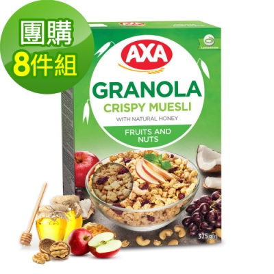 699免運瑞典AXA綜合水果堅果穀物麥片8件組375gx8