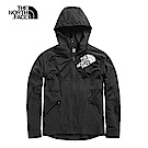 The North Face北面男款黑色透氣風衣|3V6DJK3