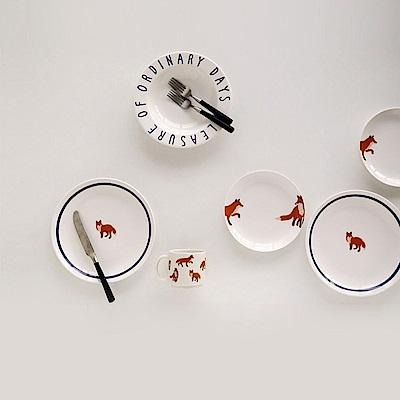 Dailylike 北歐陶瓷盤狐狸組01-主餐盤
