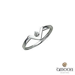 amoon 浪漫艾菲爾系列 美夢成真 9K金鑽石戒指