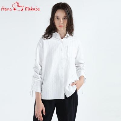 Hana-Mokuba-花木馬日系女裝長袖襯衫_藍條紋/紅條紋