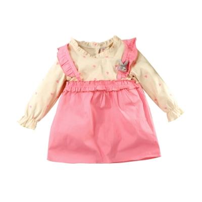 魔法Baby女童裝 秋冬款假兩件小洋裝 連身裙 k61176