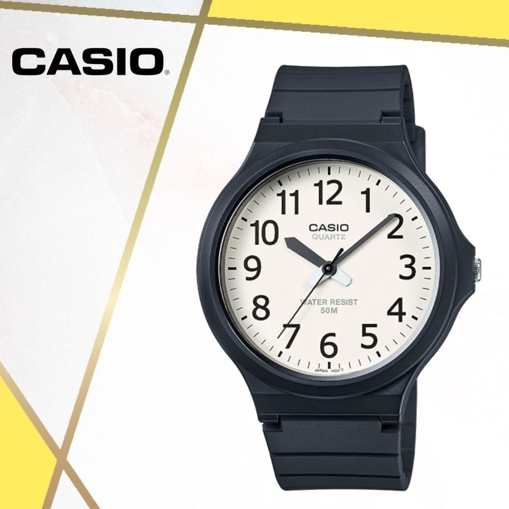 CASIO卡西歐 經典大錶面指針錶(MW-240-7B)/48mm