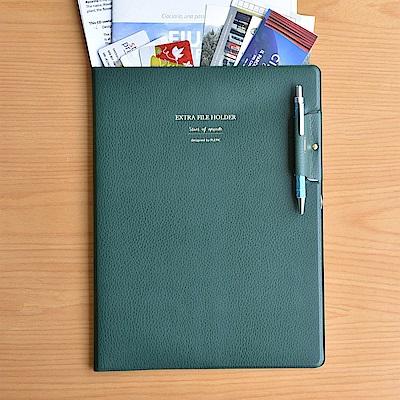 PLEPIC 職人皮革文件資料夾-森林綠