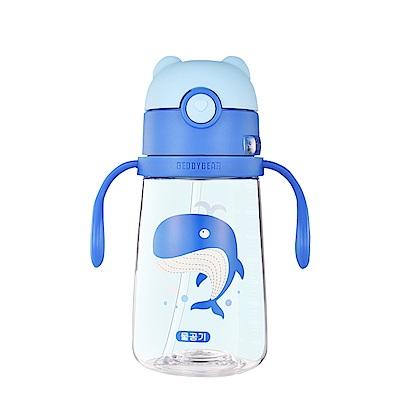 韓國BEDDY BEAR Tritan可背式兒童水壺380ML(鯨魚)