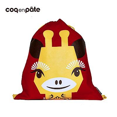 【COQENPATE】法國有機棉無毒環保布包 - 童趣輕鬆包- 長頸鹿