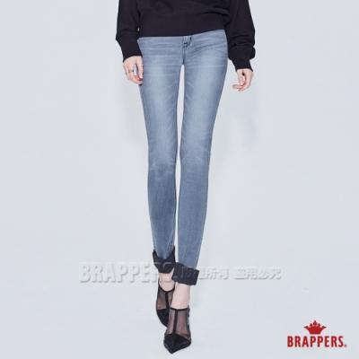 BRAPPERS 女款 美腳ROYAL系列-低腰彈性skinny窄管褲-淺灰黑