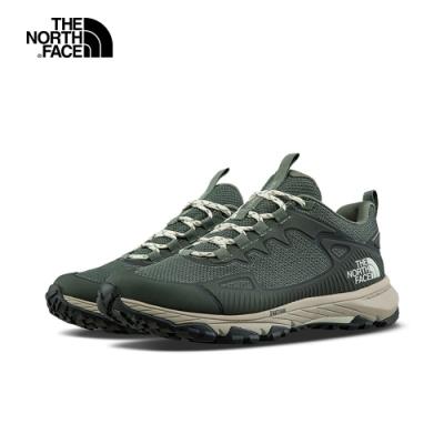The North Face北面女款綠白色防水透氣耐磨徒步鞋|46BXZGJ