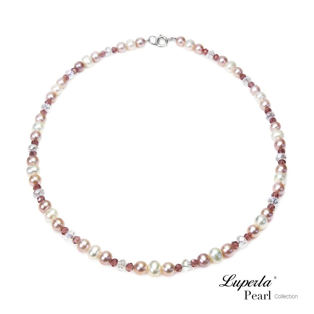 大東山珠寶 幻彩水晶珍珠項鍊