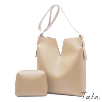 V口磁釦子母單肩包 共二色 TATA