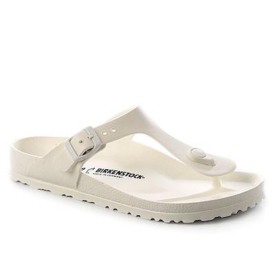 勃肯BIRKENSTOCK 128221。GIZEH吉薩 EVA夾腳拖鞋(白色)