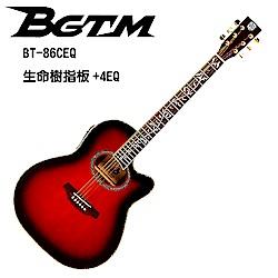 ★BGTM★BT-86RD生命樹指板+4EQ電木吉他-紅色!!限量