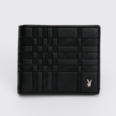 PLAYBOY - 短夾附L拉零錢袋 Noble系列 - 黑色