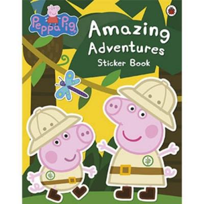Amazing Adventures Sticker Book 佩佩豬的探險貼紙故事書