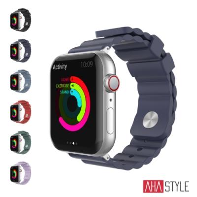 AHAStyle Apple Watch 專用運動矽膠錶帶 簡約款(42/44mm)