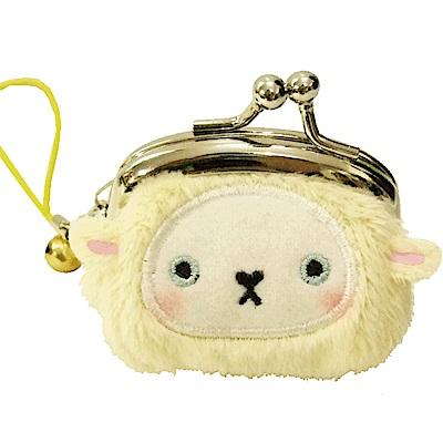 動物樂園迷你珠扣零錢包小綿羊UNIQUE
