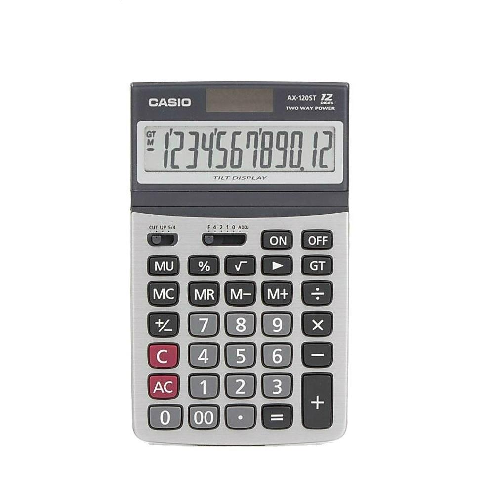 CASIO卡西歐-12位數可掀式面板商用計算機(AX-120ST)