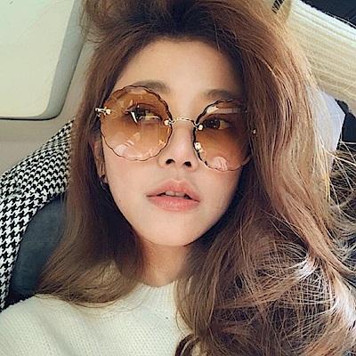 Chloe眼鏡 浪漫小花邊款/金-漸層棕 #CE142S 742