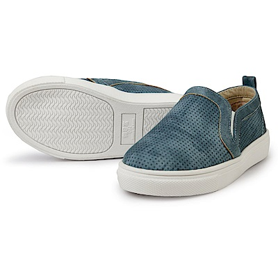 BuyGlasses 日系素色懶人童鞋-藍
