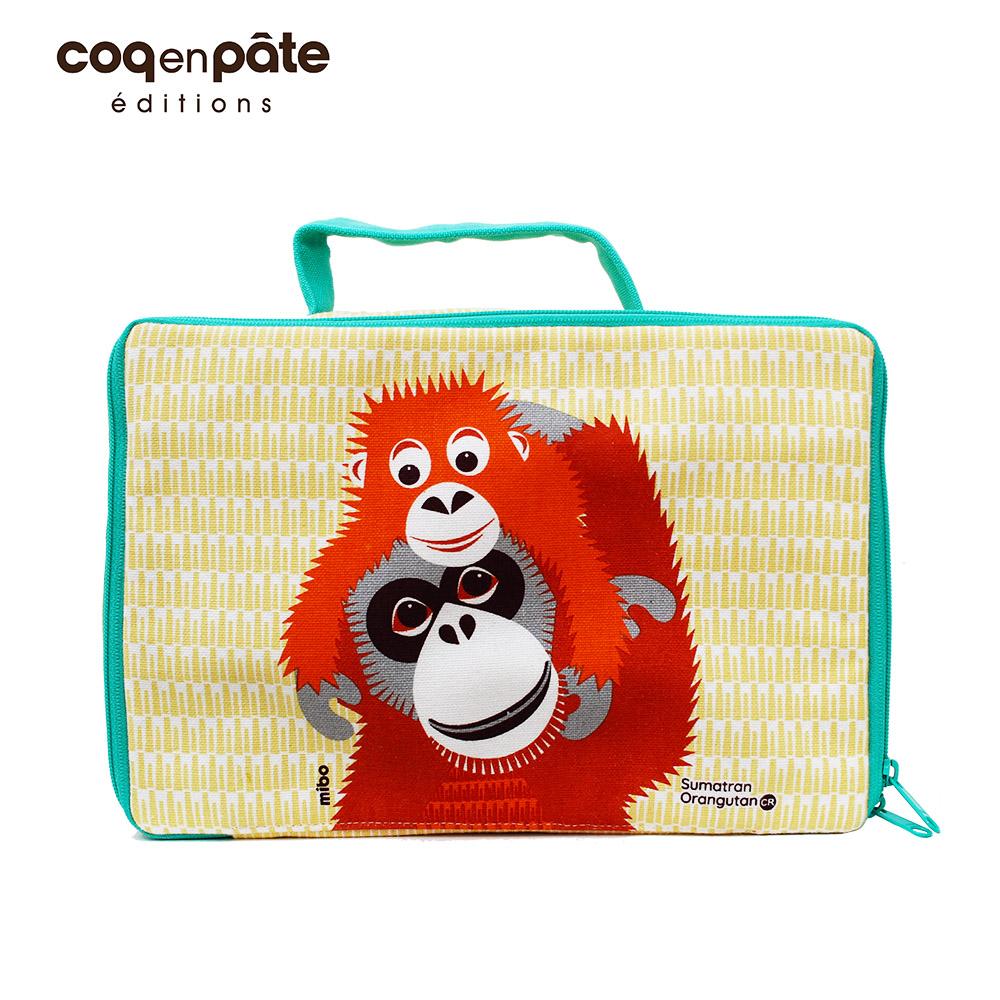 【COQENPATE】法國有機棉布包-方方兒拎出門- 紅毛猩猩