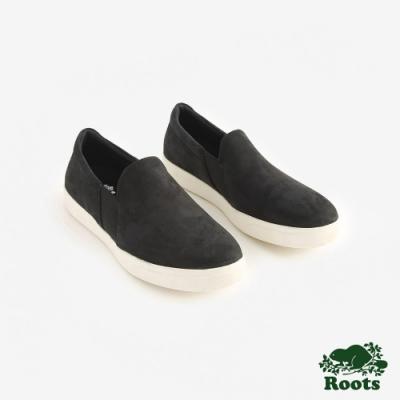 Roots男鞋- 休閒懶人鞋-黑