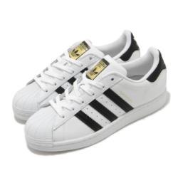 adidas 休閒鞋 Superstar 復古 低筒 女鞋 海外限定 愛迪達 三葉草 貝殼頭 穿搭 白 黑 FV3284