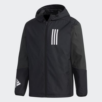 ADIDAS 外套 連帽外套 運動 慢跑 健身 男款 黑 GF4023