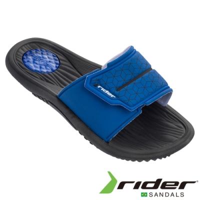 RIDER 男 EVEREST III 一字拖鞋-藍黑